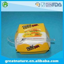 Disposable grease proof french fires paper box hamburger paper box