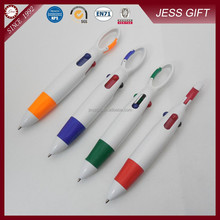 Carabiner 4 color ball pens Plastic ballpoint pen for promotion
