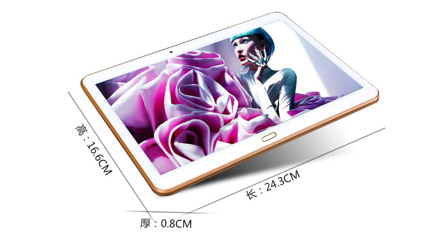 10 .1 inch dual sim 3G android 5.1 tablet pc with fingerprint reader