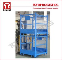 Folding Wire Mesh Cage Storage Steel Crate,foldable steel cage(L1180*W1140mm/OEM)