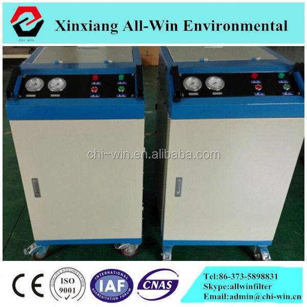 used oil recycling machine hydraulic oil purifier remove impurities