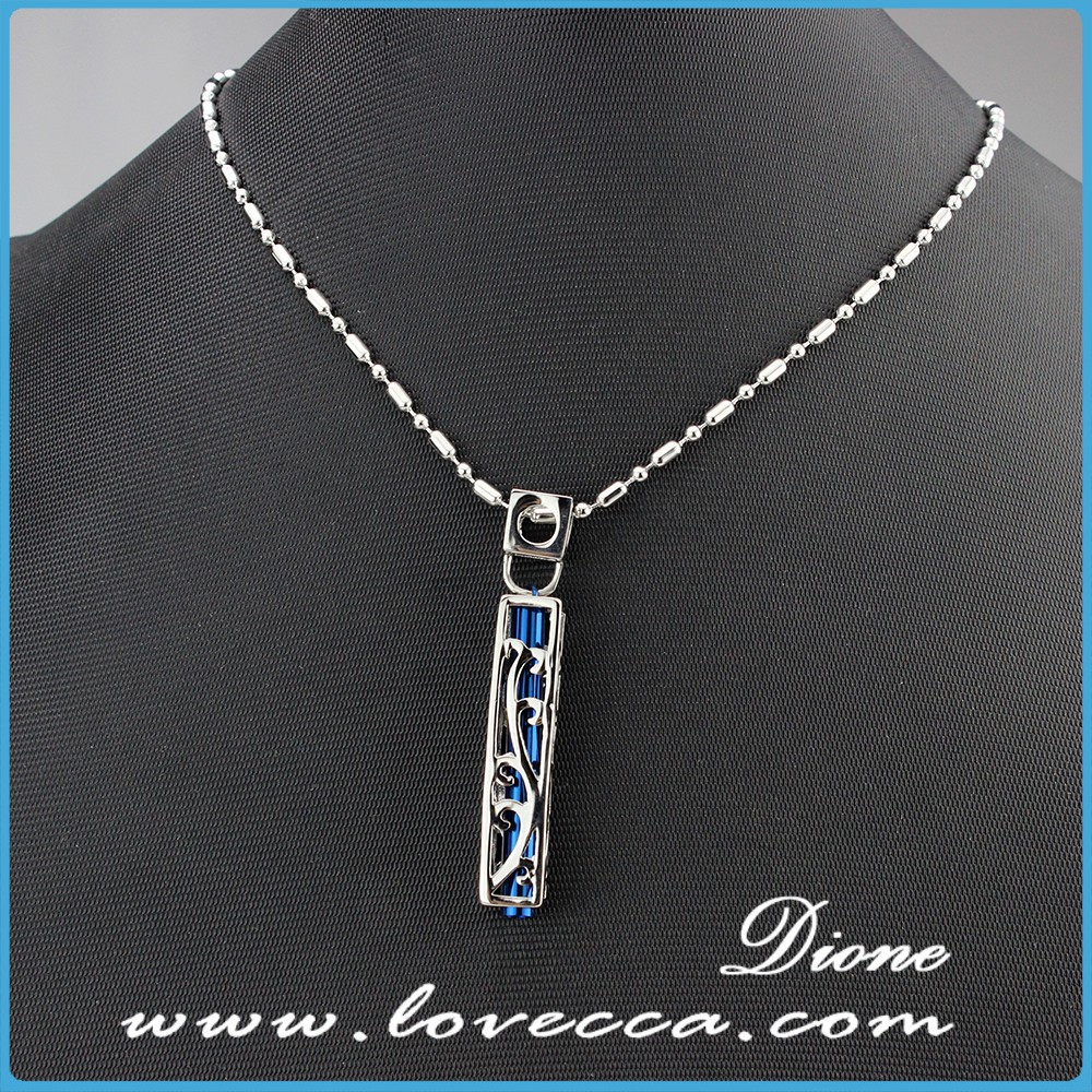 Europe trends silver stainless steel necklace pendant glass bottle pendants jewelry