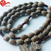 Church gifts orthodox rosaries handmade printed wooden beads catholic cross necklace