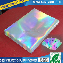 Wholesale patterns hologram sticker destructible vinyl eggshell sticker, hologram label sticker paper A4 material