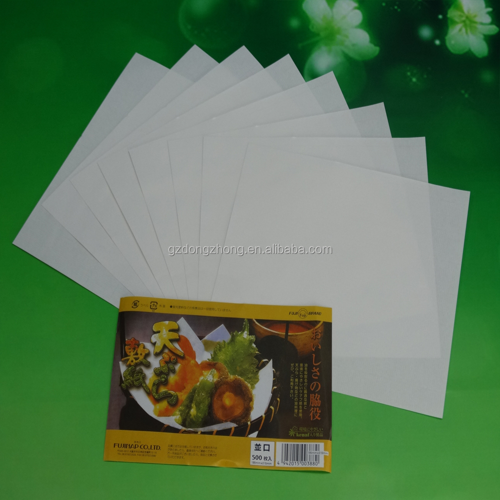 manufacturer High quality and oil absorptivity tempura paper with keeping of freshness