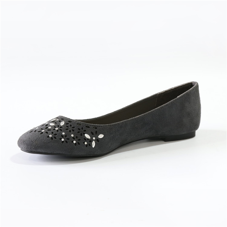 Goods Of Every Description Are Available Womens micro suede Shoes Cheap Flats Ballerina Dolly Pump Shoe