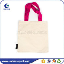 Promotional Natural Cloth Blank Tote Canvas Bag With Custom label