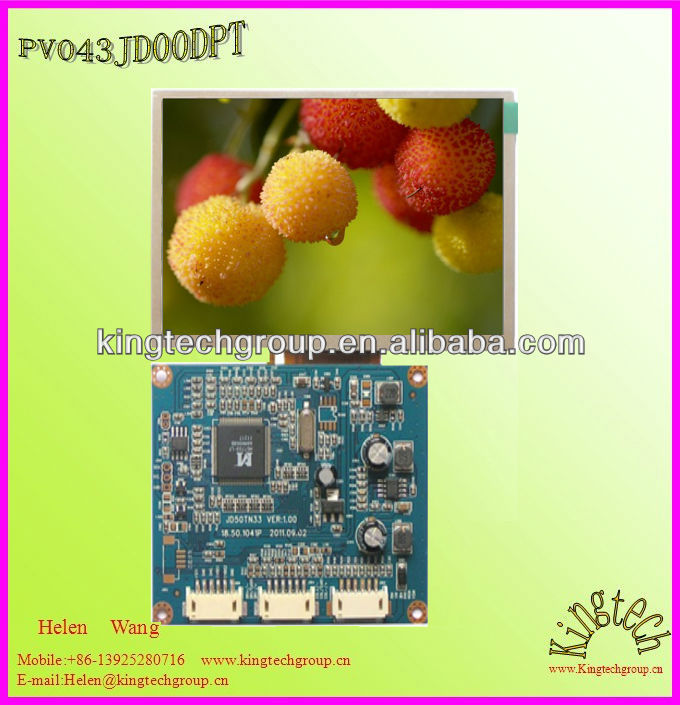 4.3 inch spi interface lcd display with touch screen 480X272 controller board