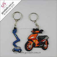 2015 The most popular motorcycle Keychain / PVC soft rubber key chain