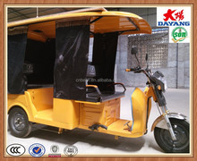 Dayang newest cheap price electric 4 passengers three wheel taxi tricycle motorcycle for sale in Sudan