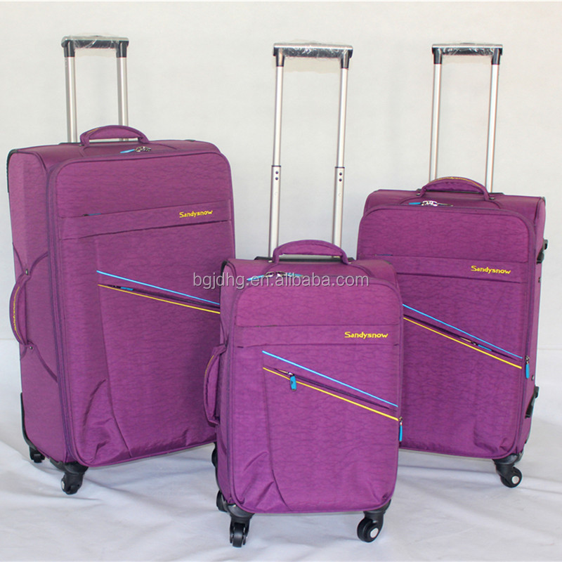 210D Lining EVA Travel Bags Soft Luggage Set New Stock 3Pcs or 4Pcs Luggage