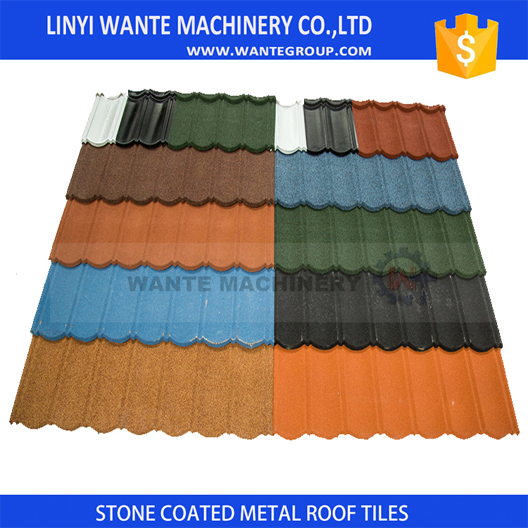 Promotional japanese stone coated metal roof tiles Customized
