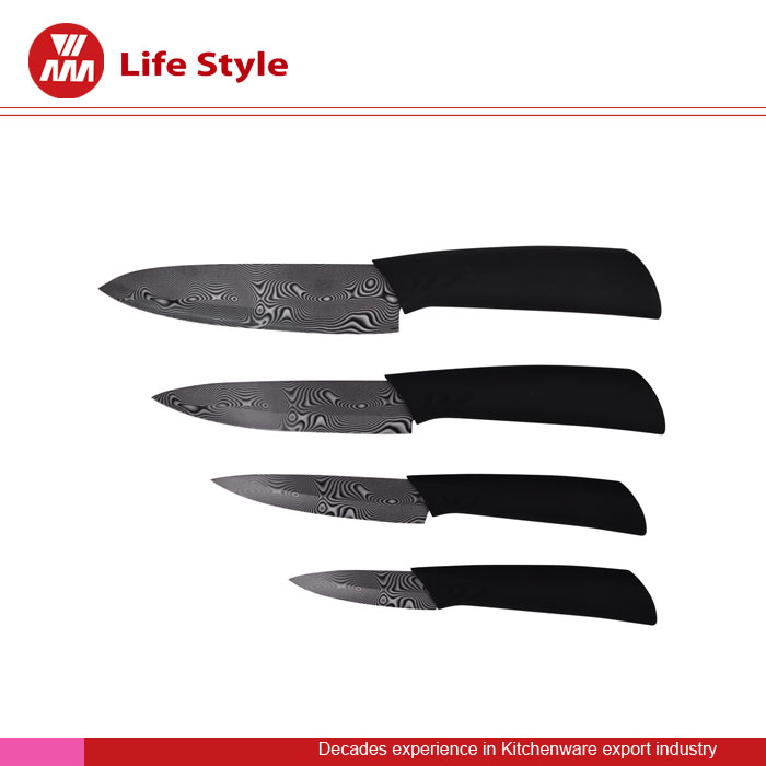 Hot selling Good quality 4pcs ceramic knife set