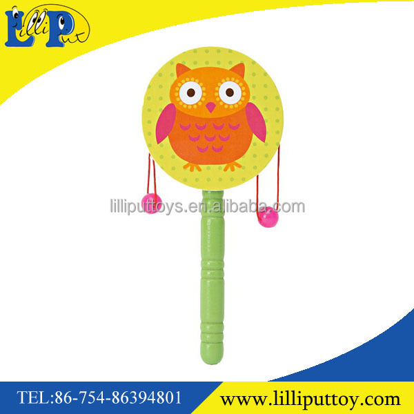 Hot selling baby rattle drum music activity toy