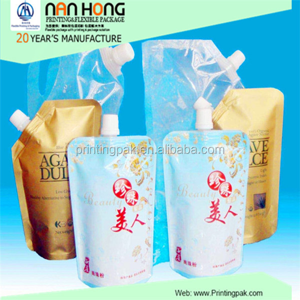 wholesale custom made printed clear laundry plastic dry cleaning bags with nozzle