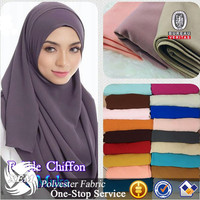 Wholesale Stretch Polyester Ankara Heavy Moss Crepe Chiffon Fabric For Muslim HIJAB From China