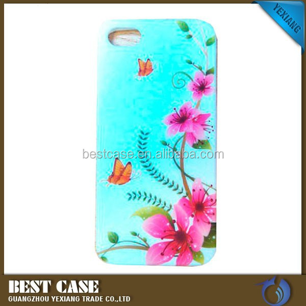 China factory manufacture pc hard case for iphone 5 fancy print back cover case