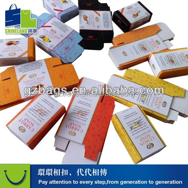 custom design accepted Soap packaging box