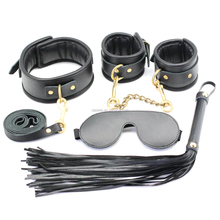 2017 New Fetish Bondage Kit Real Leather Under bed Restraint System For Couples Advanced Sex Game Play BDSM Sex Toys