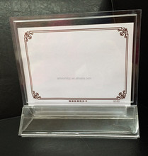 acrylic pos stand acrylic tabletop sign alibaba china acrylic menu holder menu holder for hotel