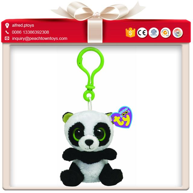 Ty big eyes animal stuffed plush keychain for promo