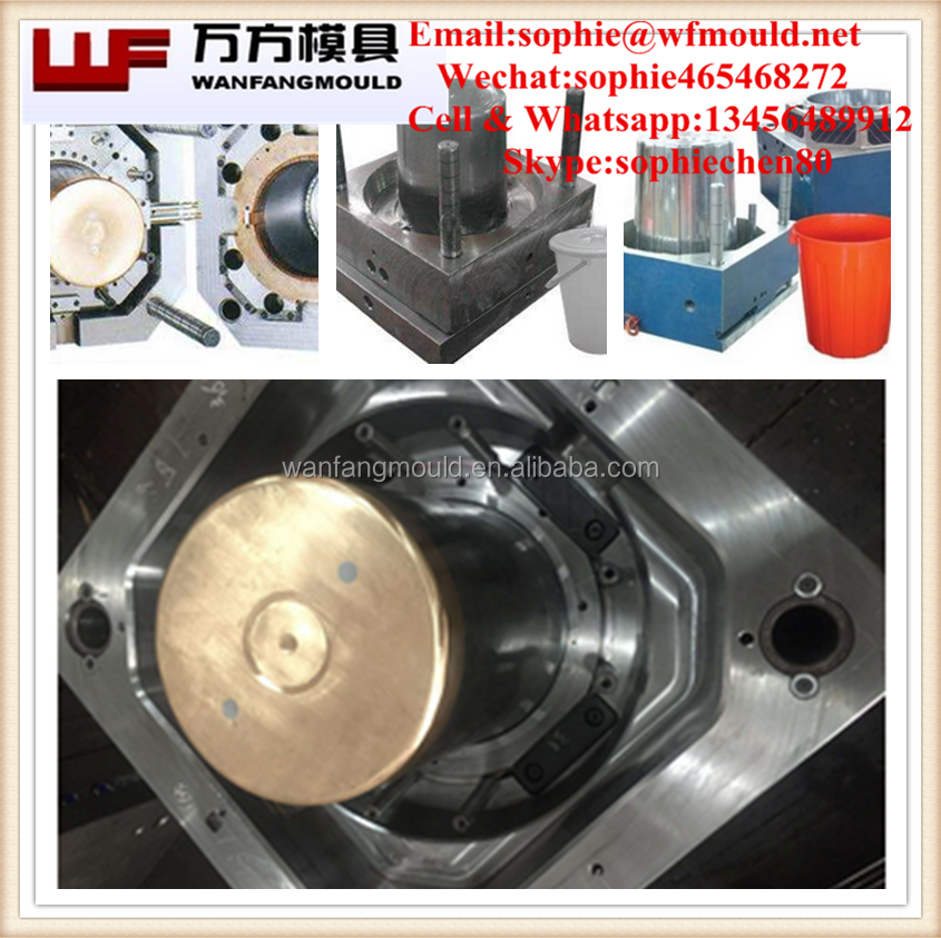 plastic 20 liter bucket mould/OEM Custom high quality 20 liter plastic paint bucket mould