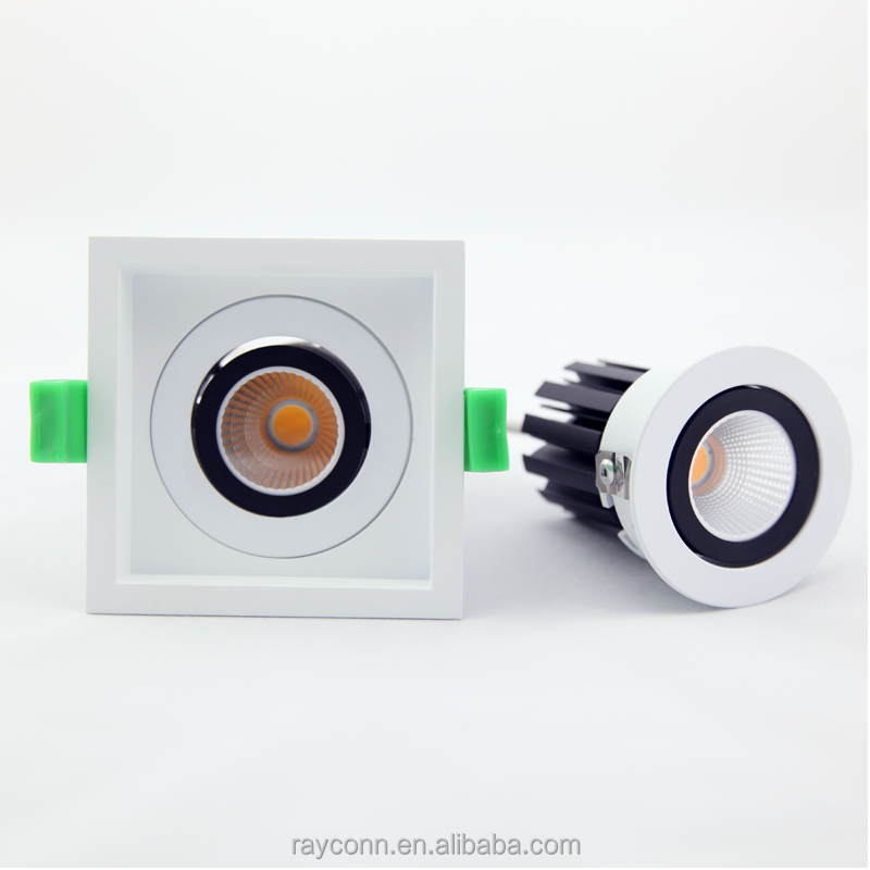 Office Show room Indoor Lighting 2*8w Square Led down light , dimmable spot lamps