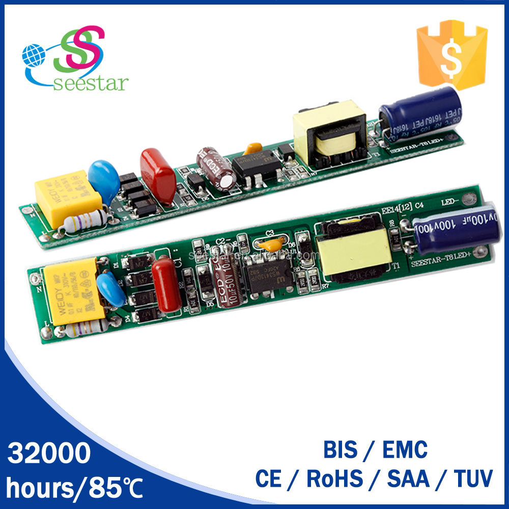 factory price seestar best selling 9w 18w 20w 22w high pf >0.9 non-isolated t5 t8 led tube driver