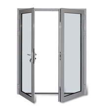 double glazed tempered glass french door factory