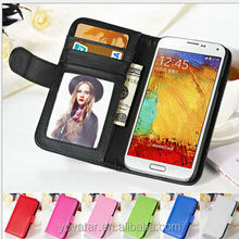 Hot!! wallet leather case for Samsung Galaxy note 3 N9000 , wallet credit card cover pouch case for Samsung note 3