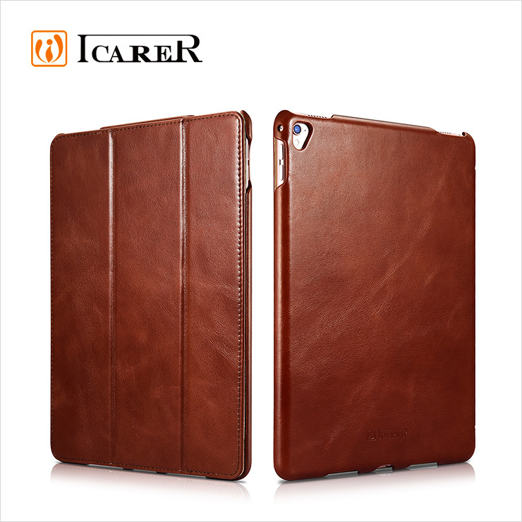 Genuine Leather Flip Cover for <strong>ipad</strong> pro 9.7 inch stand case