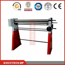 3 roller aluminium small iron metal sheet plate manual roll bending machine, cold