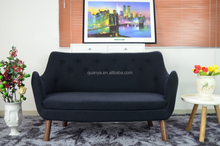 Living room furniture cashmere/leather wooden legs sofa