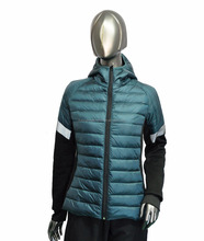 Women outdoor light weight padded winter hooded jacket 2018