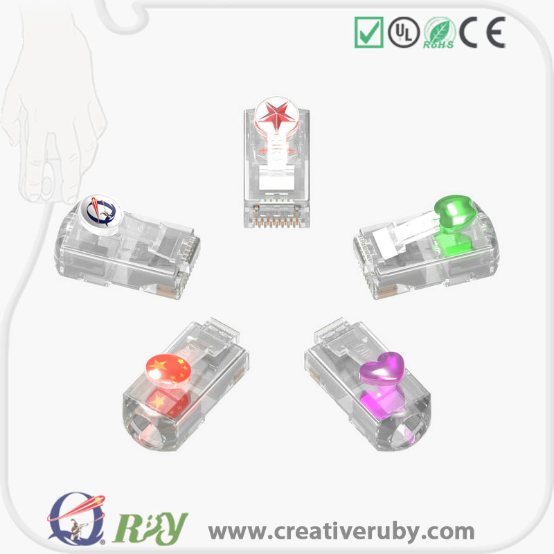 New design high speed patent long body cat6 cat7 rj45 connector plug shielded rj45 cat5e plug