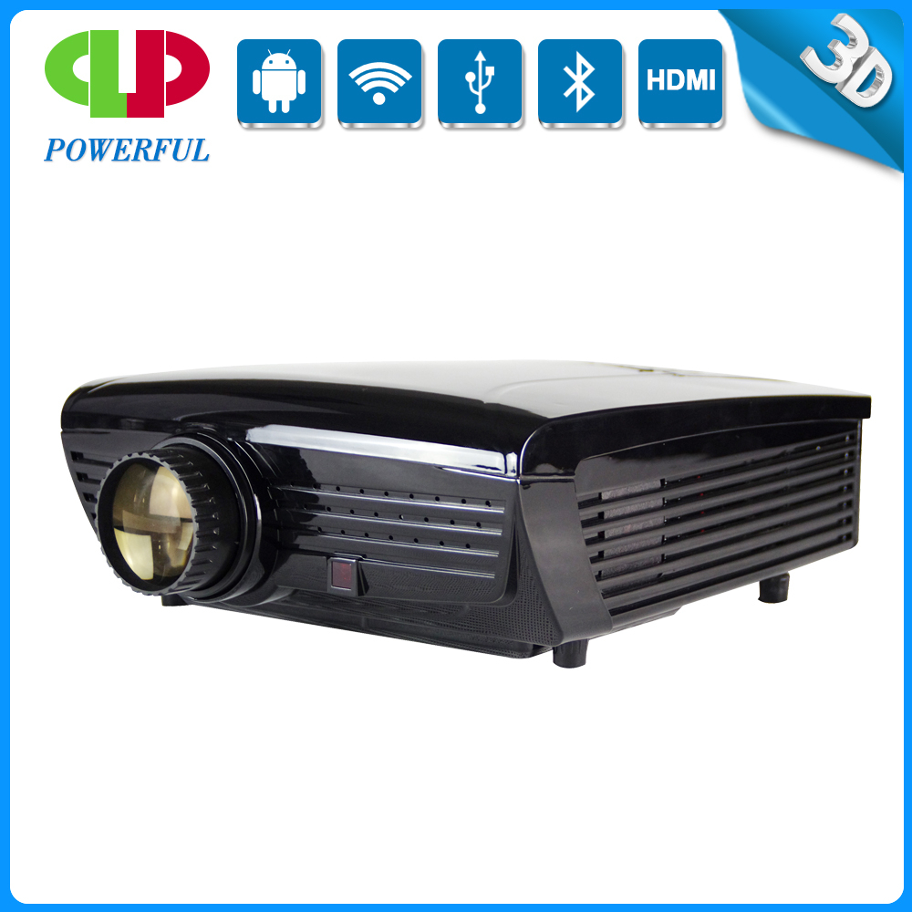 Hot sales and best 3D 1920*1080 HDMI video high brightness 3000 lumens LED projector with bluetooth and USB and TV