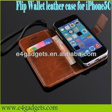 Excellent quality PU leather cellphone case for iphone5c, leather cover case for iphone 5c