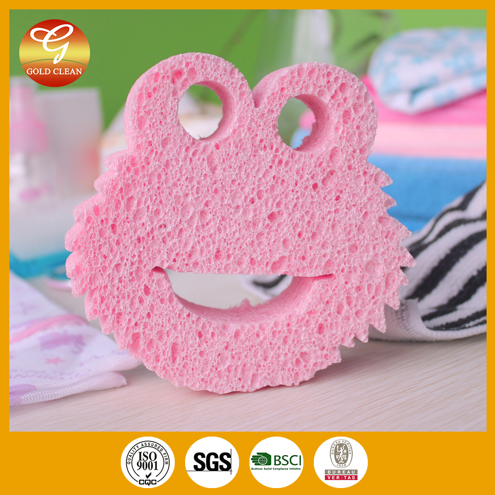 Pink Cat Cellulose sponge cloth