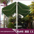 Automatic double sided retractable gazebo awning
