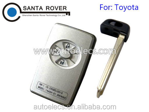 For Toyota Avalon Camry Corolla Yaris Smart Remote Key Shell Case 3 Button