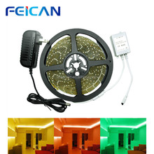 <strong>RGB</strong> 5m/roll SMD 3528 LED light diode tape strip 300leds waterproof+DC 12V 2A power adapter