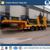 2015 new Good price low flatbed semi trailer for sale