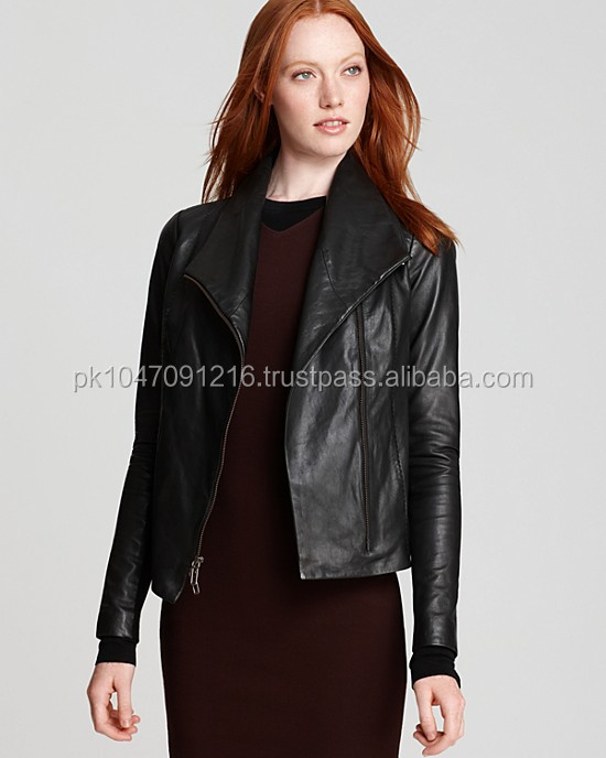 2014 autumn Vintage Leather Jacket for women
