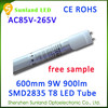 Dimmable AC85-265V 48pcs cool white SMD2835 CE ROHS red tube sex led