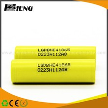 Yellow color battery lg he4 with good quality 18650 battery 2500mah for vape