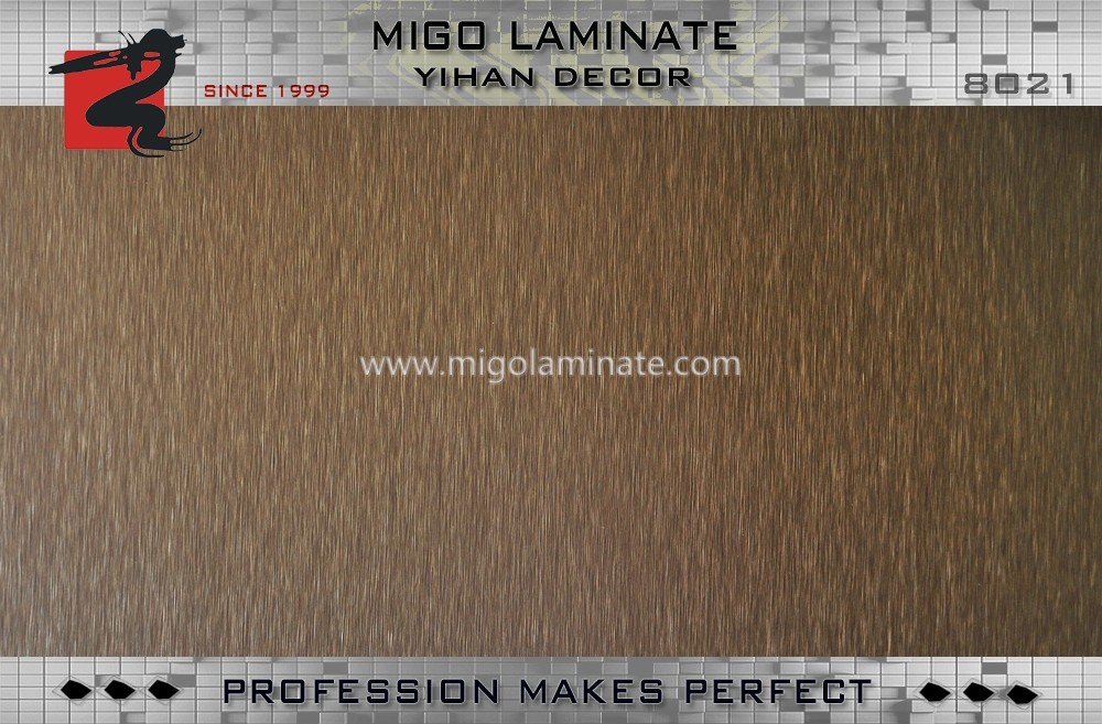 BROWN METALLIC BRUSHED HIGH PRESSURE MELAMINE LAMINATE DECORATIVE SHEET