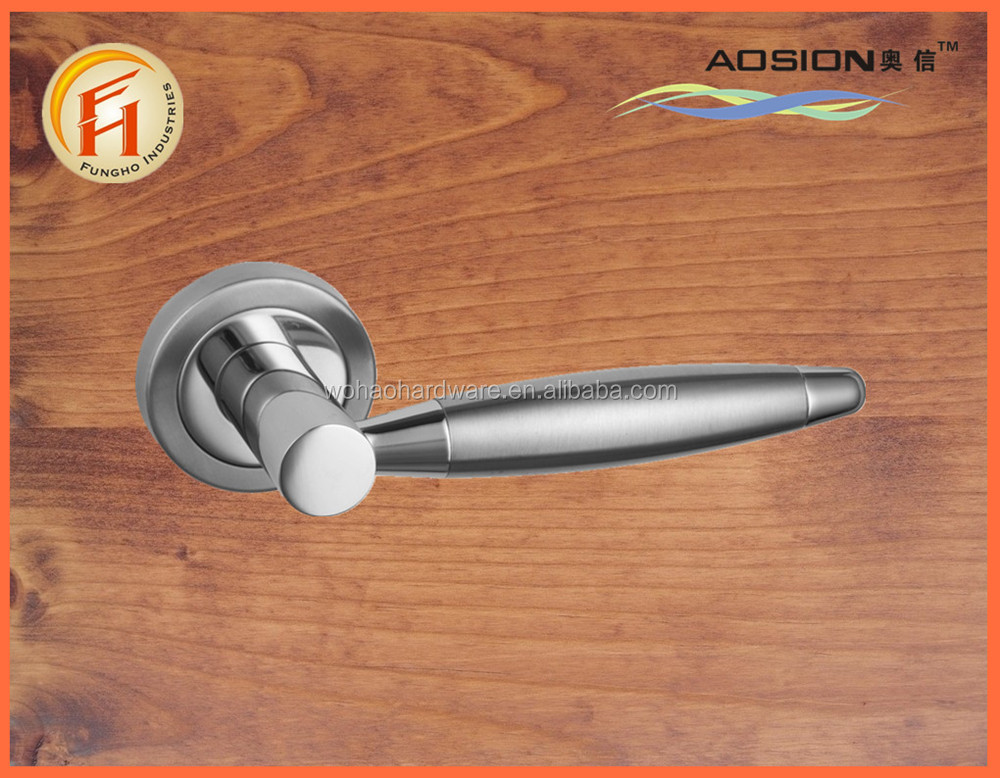 Wholesale zinc alloy morden door hollow lever handle