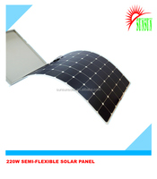 High efficiency 200W Sunpower cell Semi Flexible solar panel