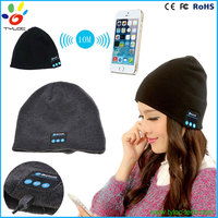 Christmas Gift Knitting Bluetooth Beanie Hat With Headphone Wireless Cap