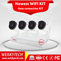 Weisky Newest arrival!!! Manufacturer China 4ch dvr wifi nvr kit p2p outdoor waterproof 720p network ip camera home security